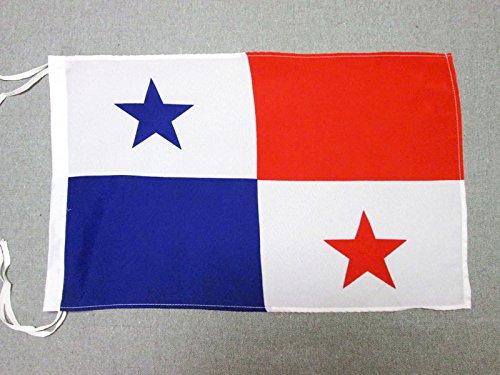 AZ FLAG Flagge Panama 45x30cm mit Kordel - PANAMAISCHE Fahne 30 x 45 cm - flaggen Top Qualität
