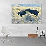 Poster Leinwandmalerei Gemälde Tierkunst Leinwand Malerei