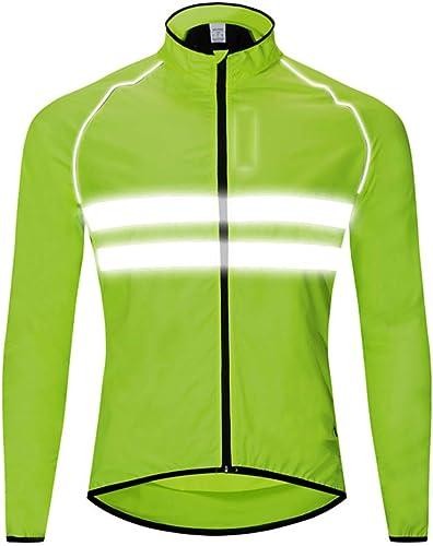 DFEDCLL Coupe-Vent de Moto de Cross-Country Bicyclette de vélo Cycliste à Manches Longues vêteHommest de pêche Coupe-Vent imperméable,L