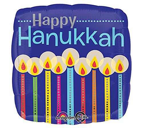 Burton & Burton Happy Hanukkah Candle Pattern Party Foil Balloon, 17'