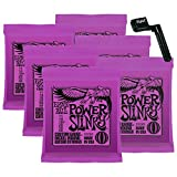 6 Sets of Ernie Ball 2220 Power Slinky 11-48 Guitar Strings w/FREE Peg Winder