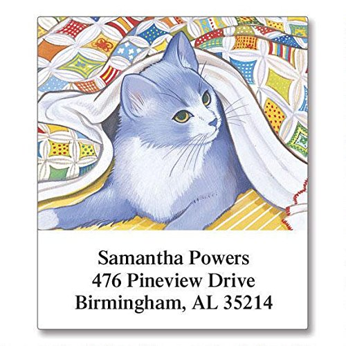 Living with Cats Self-Adhesive, Flat-Sheet Select Address Labels by Colorful Images (12 Designs), Count 144
