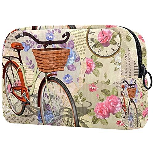 Bolsa de cosméticos para Mujeres Bicicleta de Carta Vintage Bolsas de Maquillaje...