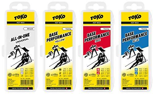 Toko _ Skiwachs Set 4 x Base Performance Wax - für Alpinski + Langlaufski + Board