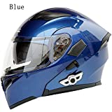 MOPHOTO Bluetooth Integrated Motorcycle Helmets, Anti-Glare Full Face Flip up Dual Visors...