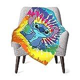 Zhenbare Stitch Cartoon Baby Blanket Super Soft Cozy Warm 3D Printing Throw for Crib Stroller Nap 30'X40', 2