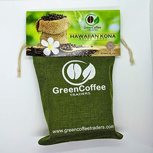 1LB. 100% Hawaii Hawaiian Kona Extra Fancy GREEN UNROASTED Coffee