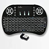 Conbre AirPAD i8 Mini Wireless Keyboard with Mousepad   Inbuilt Backlight   Supports All Smart TV,...