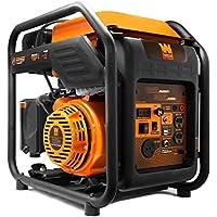 WEN GN400i RV-Ready 4000-Watt Open Frame Inverter Generator (Open Frame) (Black/orange)