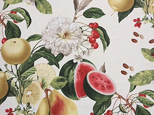 Wunderschöner Dekostoff mit Melone, Sandias, Meterware, Breite 160cm, Panama-PE von Provencestoffe