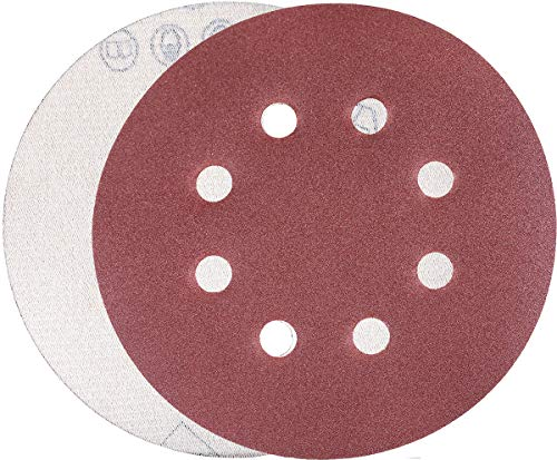 YoiYee 400 Grit Sanding Discs Pads, 8 Holes, 125mm/5-inch Hook and Loop Sandpaper Sheet for Random Orbital Sander, 20 Pack