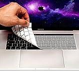 MyGadget Tastaturschutz AZERTY für Apple MacBook New Pro 13' 15' (ab 2016) Touchbar - Silikon Schutz Hülle [französische Tastatur] Silikonschutz - Silber