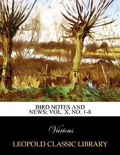 Bird notes and news; Vol. X, No. 1-8