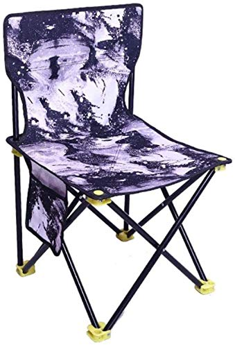 Stilvolle Einfachheit Stuhl Exquisites Klappmuster, Tragbar, Kleiner Hocker, Angeln, Rückenlehne, Einfache Bank, Oxford-Stoff, Langlebig, Aluminiumhalterung, Ultraleichtes Material, Starke Tragfähigk