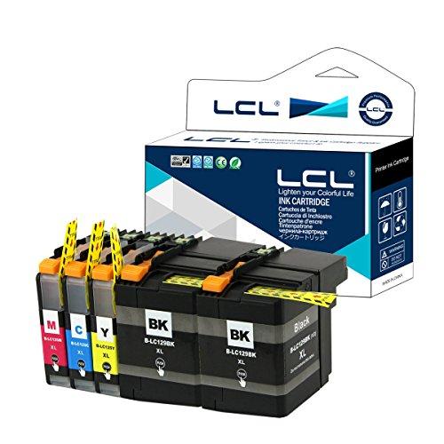 LCL LC129XL LC125XL LC129XLBK LC125XLC LC125XLM LC125XLY (5-Pack 2 Negro Cian Magenta Amarillo) Cartucho de Tinta Compatible para Brother MFC-J6520DW J6720DW J6920DW