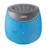 JAM Doubledown Wireless Portable Bluetooth Speaker, Splash Proof, Ultra Portable, Pair 2 for Stereo Sound, Answer Calls, Speakerphone, Rubberized Body, Durable, 30ft Range, HX-P370BL