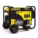 Champion 5000-Watt Portable Generator with Wheel Kit