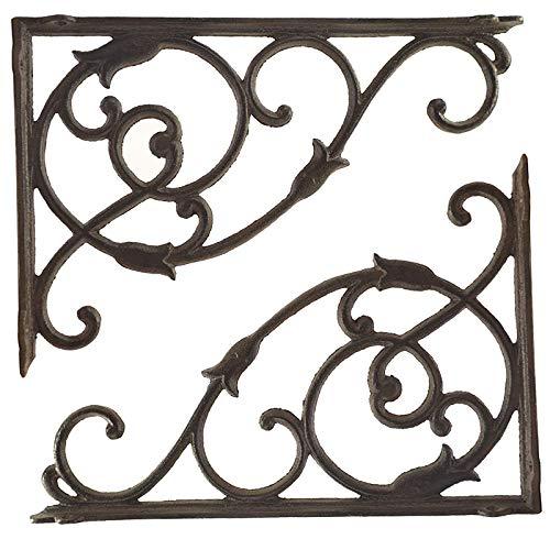 SDFGO Escuadras Metalicas, Soportes De Hierro Fundido Decorativos para Estantes, Soporte De Soporte De Forma De Pared De Pared Rústica De Pared 32.7cmx222cm(Size:32.7cmx22cm(12.8inx8.6in))