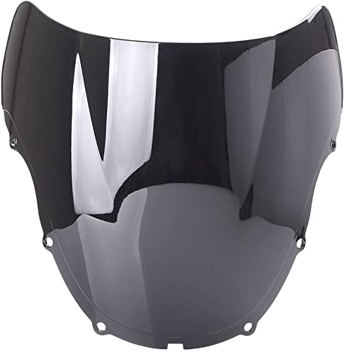 new arrival Mallofusa Motorcycle Windscreen Windshield Compatible for 2021 Honda CBR600 F4 1999 2000 sale Black outlet sale