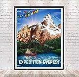 Expedition Everest Poster Vintage Disney Attraction Posters Animal Kingdom Disneyland Disney World Home Decor Wall Art