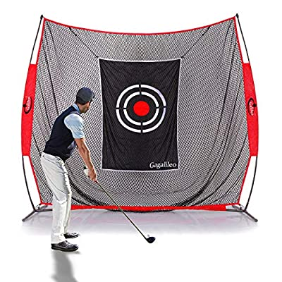 GALILEO Golf Practice Net 7x8Feet Golf Hitting Nets Driving Range Indoor Outdoor Golf Training Aids with Target and Carry Bag