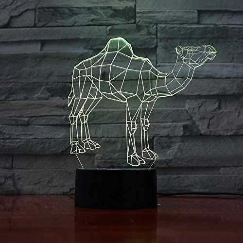 Nur 1 Stück Dromedar Kamel Nachtlampe 3D Illusion Dekoratives Licht Kind Kinder Mädchen Geschenk Tiere Kamel Schreibtisch LED Nachtlicht Nachttisch Dekor