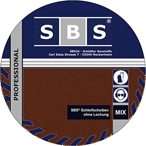 SBS® Schleifscheiben | Klett-Schleifpapier | Ø 225 mm | 30 Stück Körnung je 5 x 40/80/100/120/180/240