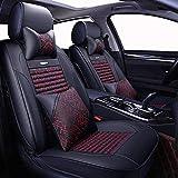Cubierta de silla de coche para Usado para Cubierta del asiento del automóvil for la cubierta del asiento del coche universal de cuero automático for Mitsubishi Lancer Outlander Pajero Eclipse Zinger