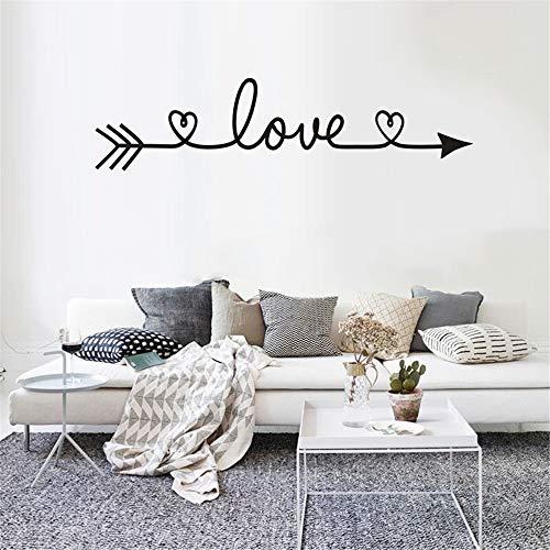 Für Wohnkultur. DJM 2 Stück Liebesmuster DIY Familie Home Wandaufkleber Abnehmbare Dekor Wandaufkleber