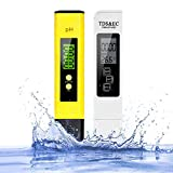 Wasserqualität Tester, pH TDS EC und Temperatur 4 in 1 Set, ATC Wasserqualität Tester Set, PH...