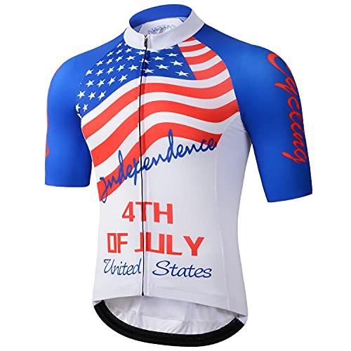 CATENA Men's Cycling Jersey Breathable Short Sleeve Road Bike Shirt Bicycle Biking Tops Comfortable