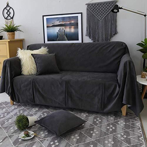 H-CAR Funda de sofá de Color sólido, Four Seasons Universal 1 Pieza Protector de Muebles Antideslizante Protector de sofá Suave para 1 2 3 Cojín de sofá Sillón-d 190x300cm (75x118inch)