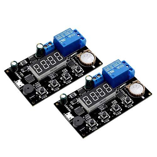 CAIJINJIN Módulo 2pc VHM-018 5V Tiempo Real sincronización del módulo de conmutador relé de retardo del Temporizador de Control de sincronización de Reloj de Control de Modo múltiple
