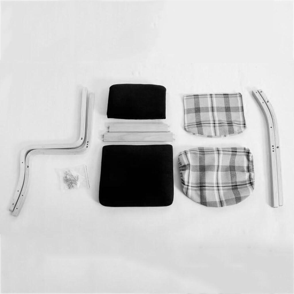 HLD Chaise en bois solide détachable facile à nettoyer Chaises (Color : H) H