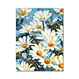Cuadros de pintura Margarita Flor Crisantemo Pintura al óleo sobre lienzo Impresión Cartel nórdico Imagen de arte de pared para sala de estar Decoración del hogar 50x70cm Sin marco