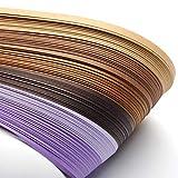 Craftdady Lot de 1200 bandes de papier pour paperolles Violet 530 x 5...