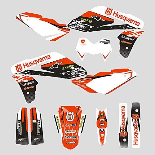 JFG RACING personalizado motocicleta pegatinas adhesivas completas pegatinas gráficos kit para Husqvarna TC 250 450 510 2005-2007