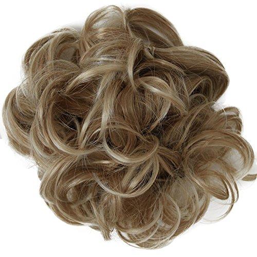 PRETTYSHOP XXL Haarteil Haargummi Hochsteckfrisuren Voluminös Gelockt Unordentlich Dutt Blond Mix HW18