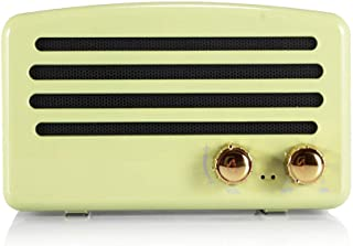 Wireless Bluetooth Retro Speaker with FM Radio, Portable Vintage Speaker, Amazon Alexa Support, Built-in Mic for Hands-Free Calls, 7-8 Hrs Playtime, TF Card, Aux Support for iOS/Android,Mint Green