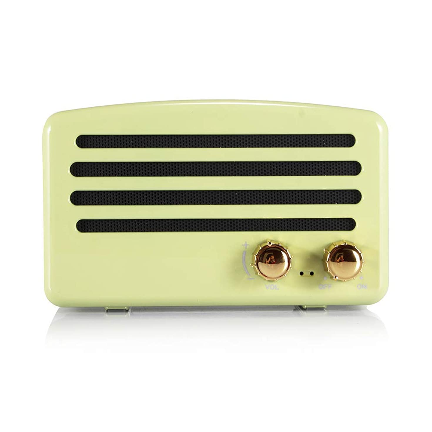 Wireless Bluetooth Retro Speaker, Portable Vintage Speaker with FM Radio, Built-in Mic for Hands-Free Phone Call, 7-8 Hrs Playtime, TF Card, USB & Aux Line-in Support for Apple/Android (Mint Green)