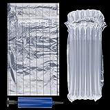 Protector de la Botella de Vino Paquete de 15 Mangas inflables de Vino Bolsas de amortiguación de Aire Envoltura de Embalaje a Prueba de Golpes para Botellas de Vidrio Protección de Envoltura