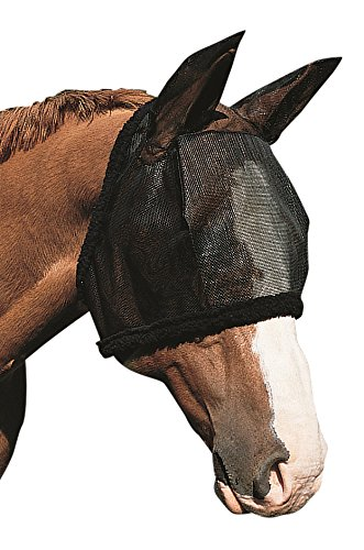 Weaver Fly Mask with Ears - Size:Large Color:Black