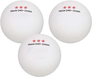 Ponacat Balles de Tennis de Table Balles de Ping-Pong 3 /Étoiles Balles Dentra/înement Haute Performance pour La Pratique Et Le Jeu Occasionnel