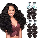 Body Wave 4 Bundles 20'22'24'26' Virgin Human Hair Bundles Natural Black Color Unprocessed Brazilian Hair Bundles Lakihair