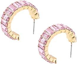 Bravetoshop Zircon Couple Earring Stud Earrings Vertical Zirconia Earring Set Ear Stud Jewelry for Girls Women Men