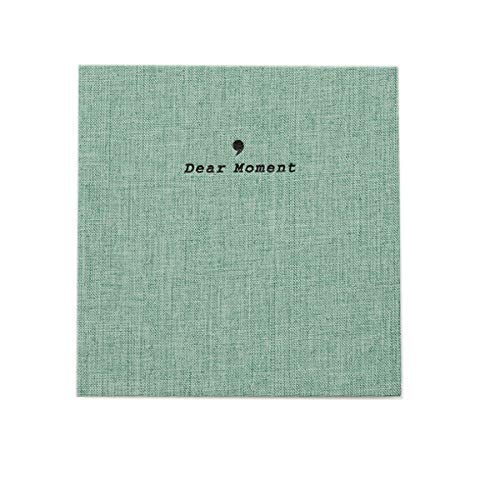 JXE Normcore Style Ramie Tessuto di Cotone Album Fotografico Titolare Scheda Nome Per Fujifilm Instax Wide 300/210 Instant 5 Inch Film (50 tasche) - Verde