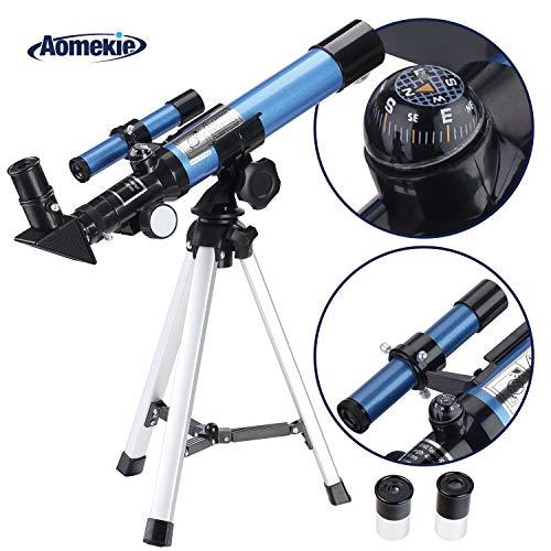 Aomekie Telescopio Astronomico Telescopio Niños con Trípode Adaptado