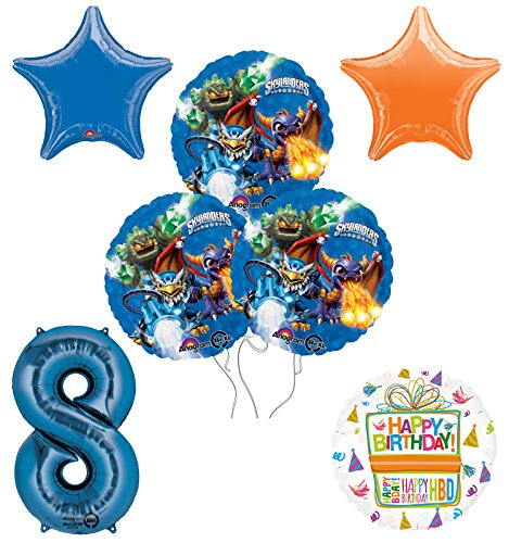 Skylanders 8th Birthday Party Supplies and Balloon Decoration Bouquet Kit