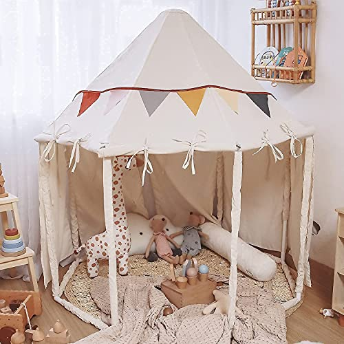 Kids Play Tents Princess Castle Tent for Girls Boys Toddler Octagon Large Playhouse Tent Indoor Outdoor Razee