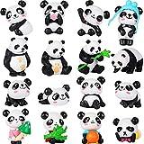 16 piezas de figuras de panda lindas figuras de juguetes de panda juego mini panda...
